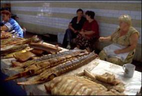Рыбный рынок в одном из волжских городов